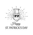 leprechaun in hat sunglasses patrick s day vector image vector image