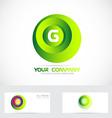 Letter G sphere logo vector image