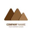 logo mountain premium vector image vector image