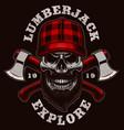 lumberjack skull vector image vector image