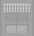 marble metallic glass railings fence vector image vector image