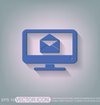 monitor letter envelope mail icon vector image