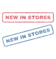 new in stores textile stamps vector image vector image