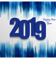 new year card with abstract strips in blue design vector image