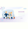 online coaching banner with copy space man coach vector image vector image