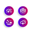 organic tested travel sea and bad weather icons vector image vector image