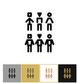 people icons human persons or customer symbols vector image vector image