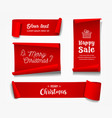 red roll paper merry christmas concept vector image vector image