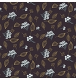 Rowan and leaves seamless pattern vector image vector image