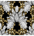 seamless classic golden pattern floral ornament vector image