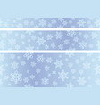 seamless snow background set vector image vector image