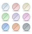 Set of color pill icons vector image vector image