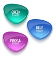 Set of glass green blue and purple banners vector image vector image