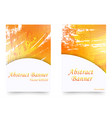 set of orange watercolor banners vector image