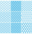 set of seamless pattern scales vector image