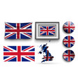 set united kingdom flags collection isolated vector image vector image