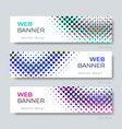 simple abstract web banner design template vector image vector image