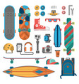skateboard fingerboard icon sport equipment vector image vector image