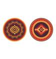 southwest american aztec navajo round rug vector image