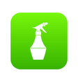 spray bottle for flower icon digital green vector image vector image