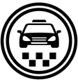 taxi round icon vector image vector image