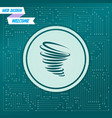 tornado icon on a green background with arrows in vector image vector image