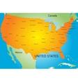 USA map vector image vector image