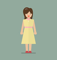 Woman in flat style vector image vector image