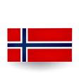 Norwegian Flag vector image