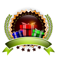 gift decoration for you design vector image