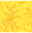 Yellow leaves seamless background vector image