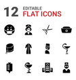 12 doctor icons vector image vector image