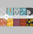 a set of tropical backgrounds vector image vector image