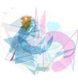 abstract colorful composition vector image vector image
