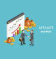affiliate business flat isometric vector image