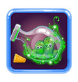 application icon with monsters in bottle vector image vector image