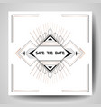 art deco wedding invitation save the date card vector image vector image