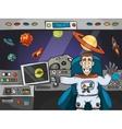 Astronaut In Spaceship vector image vector image