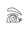beautiful eye cartoon vector image vector image