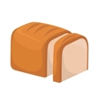 bread white loaf slice icon graphic vector image vector image