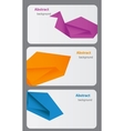 Business Card Template Abstract bsckground vector image vector image