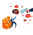 business tax resistance vector image