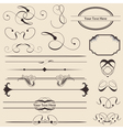 calligraphic page decorations vector image vector image