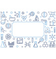 chemical outline horizontal banner or frame vector image vector image