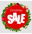 christmas sale banner transparent background vector image vector image