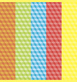 cubic colorful patterns vector image vector image