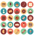 Dessert icon set Collection of tasty sweets vector image vector image