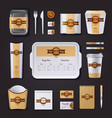 Fastfood Restaurant Corporate Design vector image vector image