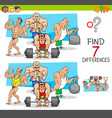 find differences game with athletes sportsmen vector image vector image