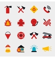 Fire fighter flat icons vector image